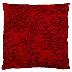 Christmas Background Red Star Large Flano Cushion Case (two Sides)