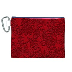 Christmas Background Red Star Canvas Cosmetic Bag (XL)