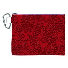 Christmas Background Red Star Canvas Cosmetic Bag (XXL)