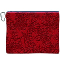 Christmas Background Red Star Canvas Cosmetic Bag (xxxl)