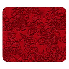 Christmas Background Red Star Double Sided Flano Blanket (Small)