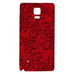 Christmas Background Red Star Galaxy Note 4 Back Case