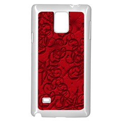 Christmas Background Red Star Samsung Galaxy Note 4 Case (White)