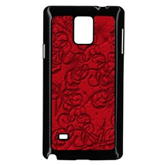 Christmas Background Red Star Samsung Galaxy Note 4 Case (black)