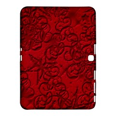 Christmas Background Red Star Samsung Galaxy Tab 4 (10 1 ) Hardshell Case