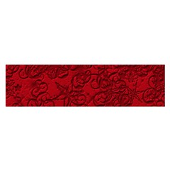 Christmas Background Red Star Satin Scarf (oblong)
