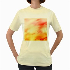 Background Abstract Texture Pattern Women s Yellow T-Shirt
