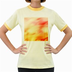 Background Abstract Texture Pattern Women s Fitted Ringer T-Shirts