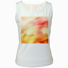Background Abstract Texture Pattern Women s White Tank Top