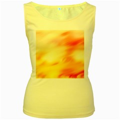 Background Abstract Texture Pattern Women s Yellow Tank Top