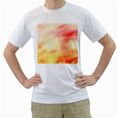 Background Abstract Texture Pattern Men s T-Shirt (White) (Two Sided)