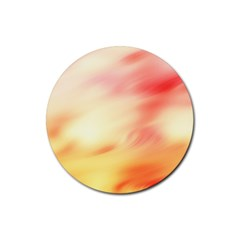 Background Abstract Texture Pattern Rubber Round Coaster (4 pack)
