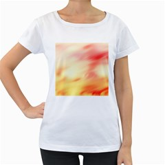 Background Abstract Texture Pattern Women s Loose Fit T Shirt (white)