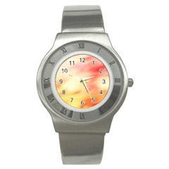 Background Abstract Texture Pattern Stainless Steel Watch
