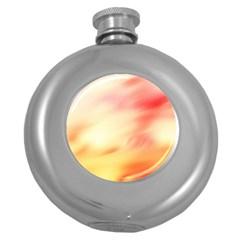 Background Abstract Texture Pattern Round Hip Flask (5 oz)