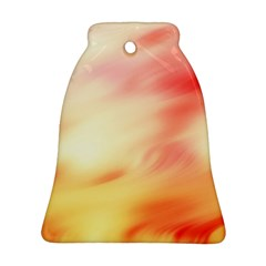 Background Abstract Texture Pattern Bell Ornament (Two Sides)