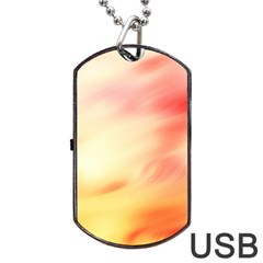 Background Abstract Texture Pattern Dog Tag USB Flash (Two Sides)