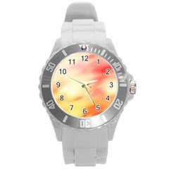 Background Abstract Texture Pattern Round Plastic Sport Watch (L)