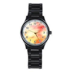 Background Abstract Texture Pattern Stainless Steel Round Watch