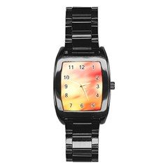 Background Abstract Texture Pattern Stainless Steel Barrel Watch
