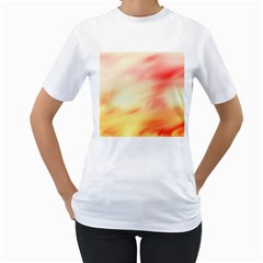 Background Abstract Texture Pattern Women s T-Shirt (White)
