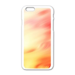 Background Abstract Texture Pattern Apple Iphone 6/6s White Enamel Case
