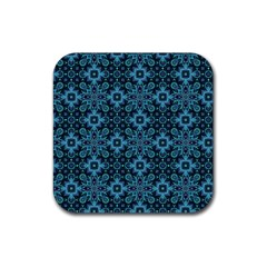 Abstract Pattern Design Texture Rubber Square Coaster (4 Pack)
