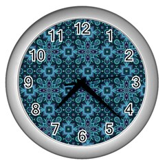 Abstract Pattern Design Texture Wall Clocks (Silver)