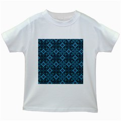 Abstract Pattern Design Texture Kids White T-Shirts