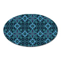 Abstract Pattern Design Texture Oval Magnet