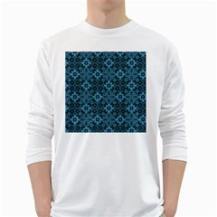 Abstract Pattern Design Texture White Long Sleeve T Shirts