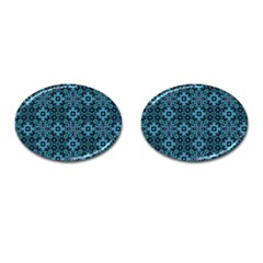 Abstract Pattern Design Texture Cufflinks (Oval)