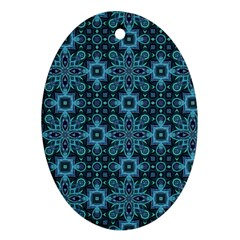 Abstract Pattern Design Texture Oval Ornament (Two Sides)