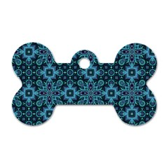 Abstract Pattern Design Texture Dog Tag Bone (Two Sides)