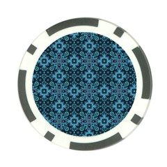 Abstract Pattern Design Texture Poker Chip Card Guard