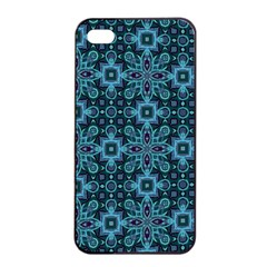 Abstract Pattern Design Texture Apple iPhone 4/4s Seamless Case (Black)
