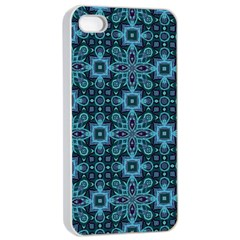 Abstract Pattern Design Texture Apple iPhone 4/4s Seamless Case (White)