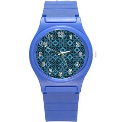 Abstract Pattern Design Texture Round Plastic Sport Watch (s)