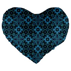 Abstract Pattern Design Texture Large 19  Premium Heart Shape Cushions