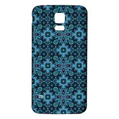 Abstract Pattern Design Texture Samsung Galaxy S5 Back Case (White)