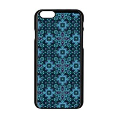 Abstract Pattern Design Texture Apple Iphone 6/6s Black Enamel Case