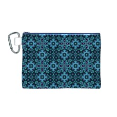 Abstract Pattern Design Texture Canvas Cosmetic Bag (m)
