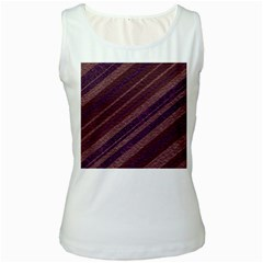 Stripes Course Texture Background Women s White Tank Top