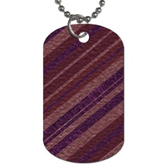 Stripes Course Texture Background Dog Tag (One Side)