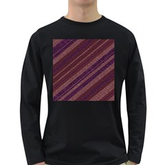 Stripes Course Texture Background Long Sleeve Dark T-Shirts
