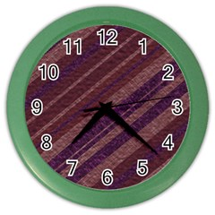 Stripes Course Texture Background Color Wall Clocks