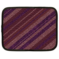 Stripes Course Texture Background Netbook Case (Large)
