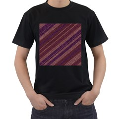 Stripes Course Texture Background Men s T Shirt (black)