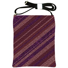 Stripes Course Texture Background Shoulder Sling Bags