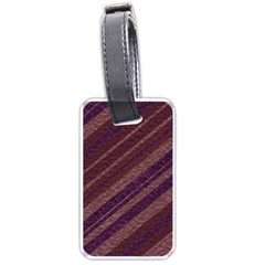 Stripes Course Texture Background Luggage Tags (one Side)